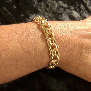 14K Yellow Gold Double Figure 8 Chain Bracelet